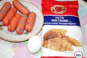 Сосиски в тесте ингредиенты