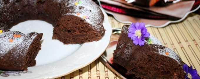Постный шоколадный пирог рецепт